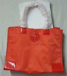Tory Burch Bag 22139694 Nylon Ella Electric Orange Tote Agsbeagle