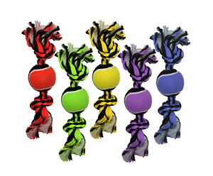 Multipet Nuts For Knots 3Knot Rope W/ TennisBalls Free Shipping