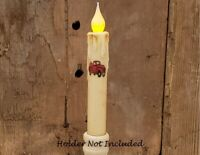 """FARM ANIMALS IVORY TIMER Taper Candle Farmhouse Rustic 6.5/"""""""