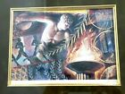 """Olympic Spirit Signed Print By Euripides Kastaris 17""""x15"""" Framed Matted"""