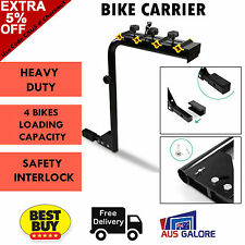 4 X Bicycle Bike Rack Hitch Mount For Car Carrier Holder Rear w/ Lock 2 Inch