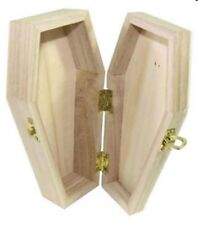 Halloween Wooden Hinges You Create Gift Box vampire Decoration Coffin 6inch
