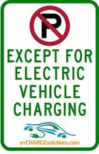 No Parking except for Electric Vehicle Charging Sign for EVSE