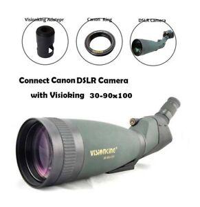Visionking 30-90X100 Waterproof Spotting scope Canon DSLR Camera Mount