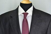 Jos A Bank Signature Gold Gordon Gray Overcheck Plaid Wool 2 Pc Suit Sz 43L