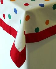 Sterck - 100% Cotton Tablecloth - Spotty - Multicoloured - 3 Sizes Available
