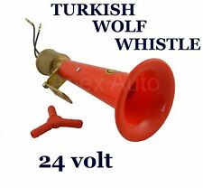 24v Turkish WOLF WHISTLE Air Horn Scania Daf Man Volvo Renault Iveco Truck HGV