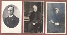 Vicars / Priests,  2 RP portraits, 1 printed,   Edwardian and later      RK575