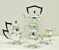 7-PC Gorham Sterling Silver Plymouth Lrg Tea Coffee Set w/ Kettle & Stand 95ozt