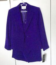 Ladies Vibrant Purple 2 pc Suit - jacket & skirt  Kasper USA