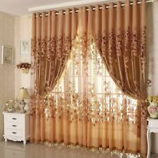 1pcs Floral Voile Curtain Window Blackout Tulle Curtain Living Room Drape Panel