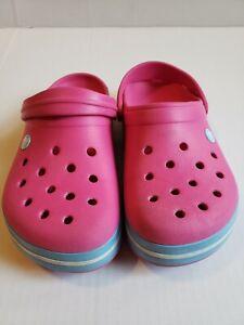 Crocs Original Classic Clogs Shoes Sandals Neon Pink Unisex Size 7 Men 9 Women