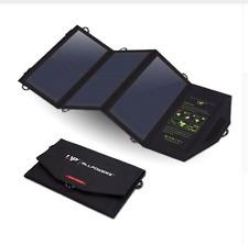 Folding Solar Panel Light Weight USB Phone Camping Hiking Travel I Pad 21W 5V