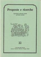 Storia locale Proposte e ricerche numero 22 1989