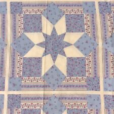 Cushion Panel Faux Patchwork Quilting Craft  Sewing Fabric Blue Cream Pink 4
