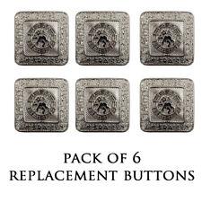 New Kilt Bundle of 6 Nickel Prince Charlie/Argyll Jacket Button - Large