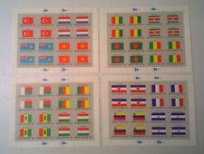 UN NY FLAG SHEETS United Nations Scott 325-340 1980 Complete MNH  SET