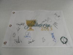 INTERNATIONAL TEAM SIGNED 2013 PRESIDENTS CUP FLAG ADAM SCOTT PRICE JASON DAY