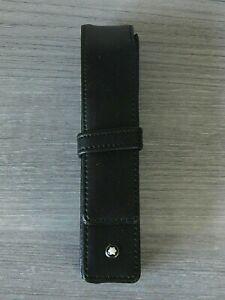 MONTBLANC Meisterstück Black 2 Pen/Cigar Holder-Full-Grain Leather-BRAND NEW!