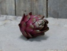 Set Of 2 Decorative Bordeaux Faux Artichoke Ornamental Artificial Vegetable