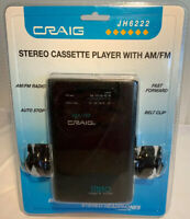 Craig Stereo Cassette Player AM/FM Radio W/ Headphones JH6222 Sealed New