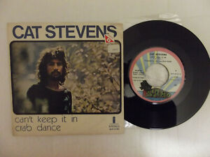 "CAT STEVENS 7"" pressage Portugal  CAN'T KEEP IT IN (1972)"