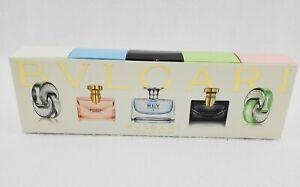 Bvlgari Travel Perfume Miniature Collection Splash 0.17 oz 5 pc Gift Set - MIB!
