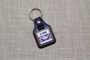 Jaguar S-Type Keyring - Leatherette and Chrome Keyfob