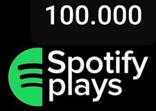 100.000 SPOTIFY streams plays inkl. aller Einnahmen Royalties