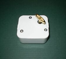 Music Box Movement-Brahms Lullaby, Pure White Case