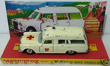 Lesney MATCHBOX Diecast KING SIZE K-6 BENZ BINZ AMBULANCE & Custom Box Display b