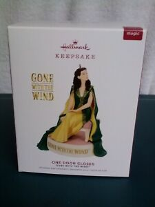 HALLMARK Gone With The Wind ONE DOOR CLOSES Ornament Magic Sound, New MIB