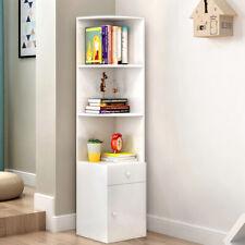3 Cube Shelves Tall Bookshelf CORNER Bookcase Display Shelving Drawer Storage UK