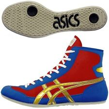 Asics Japan Wrestling Boxing Shoes Ex-Eo Blue Red Gold Twr900 Flat Sole 23