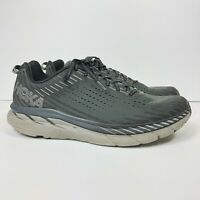 Hoka One One Clifton 5 Men's Size 13 Athletic Running Walking Comfort Shoes Gray