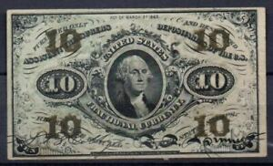 USA Fr 1255 10 Cents 3rd Issued AU Rare
