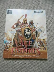 PC games AGE OF EMPIRES Gold Edition Reference Book MICROSOFT 1997-98