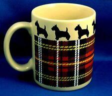 Scotty Dog Mug Coffee Cup Red Tartan Plaid Scottish Terrier Xmas Gift Idea Nice