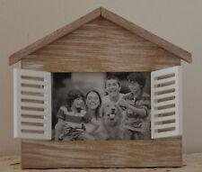 FOTORAHMEN Bilderrahmen Holzrahmen Haus mit Türen 10 x 15 cm Holz