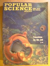 Popular Science Magazine February 1947 Underwater Television Rocket Motorcycle