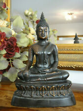 Buddha Statue Bronze Skulptur Figur Buddhafigur Edel Buddhismus Indien Asien NEU