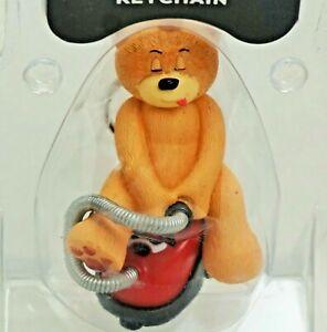 Bad Taste Bears Keychain J EDGAR Rare Funny BTB Figurine Hoover vtg Underhill