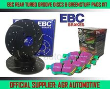 EBC REAR GD DISCS GREENSTUFF PADS 261mm FOR MAZDA XEDOS 6 2.0 1992-00