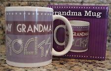 Grandma Rocks Mug Coffee Great gift Boxed 12 oz Dishwasher Safe BPA Free