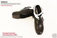 SAGALA Irish Dance Hard shoes Pure Cowhide Leather Hand Made. Dance/Tap shoes