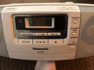 Panasonic RX-D45 Portable CD Radio Cassette Player Recorder White