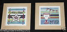 Oopsy Daisy 2 pc Sports Mvp All Star framed art boys room decor 10x10 nwop