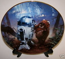 Star Wars Plate R2-D2 & Wicket Empire Jedi Movies Rots