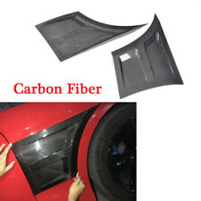 Carbon Fiber Front Side Fender Vents Trim Fit for Ford Mustang  2-Door 2015-2017