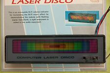 Vintage 80's car laser disco music light, rhythm, universal, sound activated